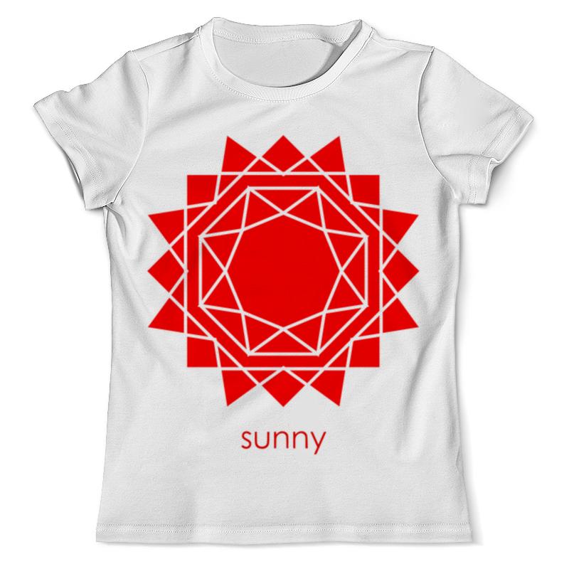 Футболка с полной запечаткой (мужская) Printio Абстрактное красное геометрическое солнце футболка с полной запечаткой для девочек printio абстрактное красное геометрическое солнце