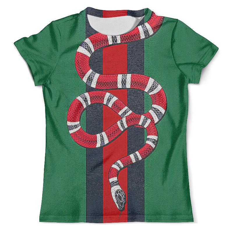 Футболка с полной запечаткой (мужская) Printio Snake design футболка gucci snake