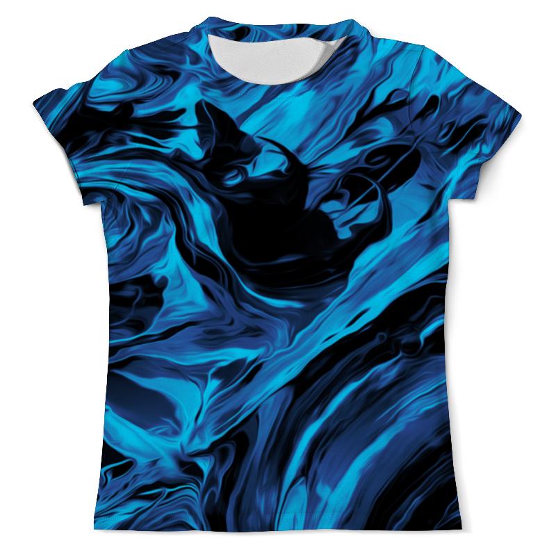 Футболка с полной запечаткой (мужская) Printio Черно-синие краски футболка с полной запечаткой для мальчиков printio черно синие краски