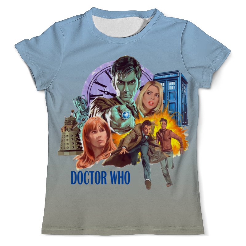 Футболка с полной запечаткой (мужская) Printio Doctor who футболка мужская bc 15 yt5817