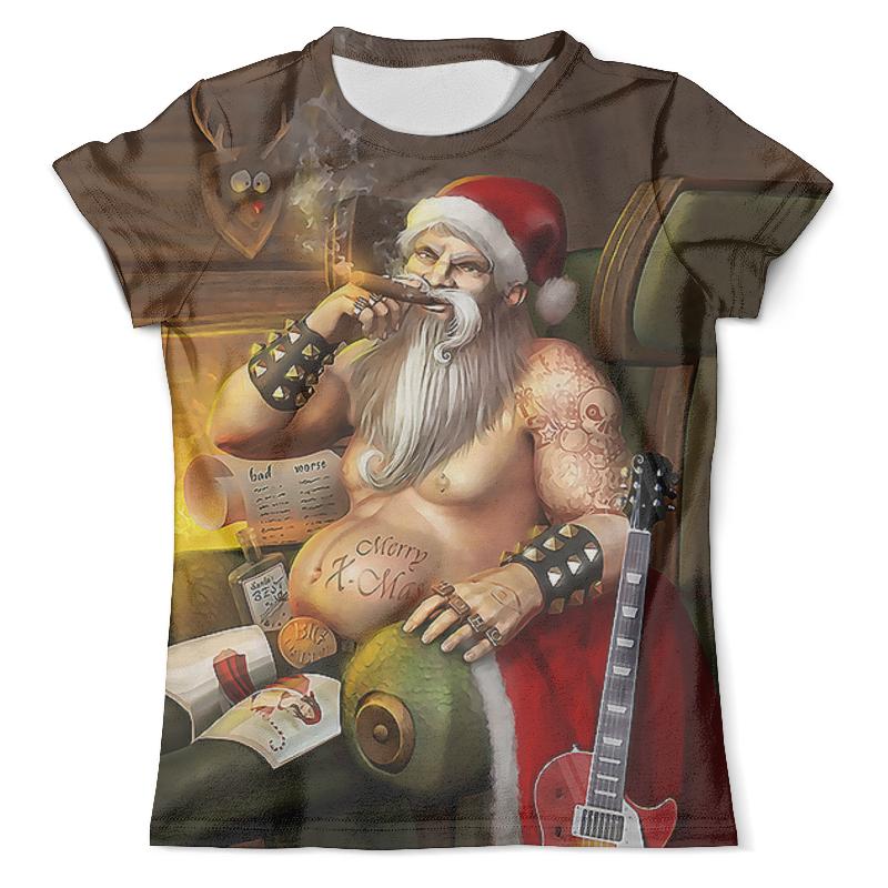 Футболка с полной запечаткой (мужская) Printio Santa biker_ футболка с полной запечаткой мужская printio bad santa