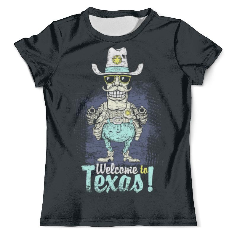 все цены на Футболка с полной запечаткой (мужская) Printio Welcome to texas онлайн