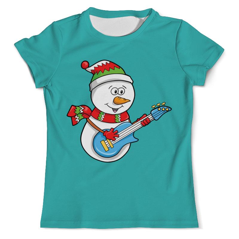 Футболка с полной запечаткой (мужская) Printio Снеговик с гитарой (новый год) футболка с полной запечаткой мужская printio солдаты смерти