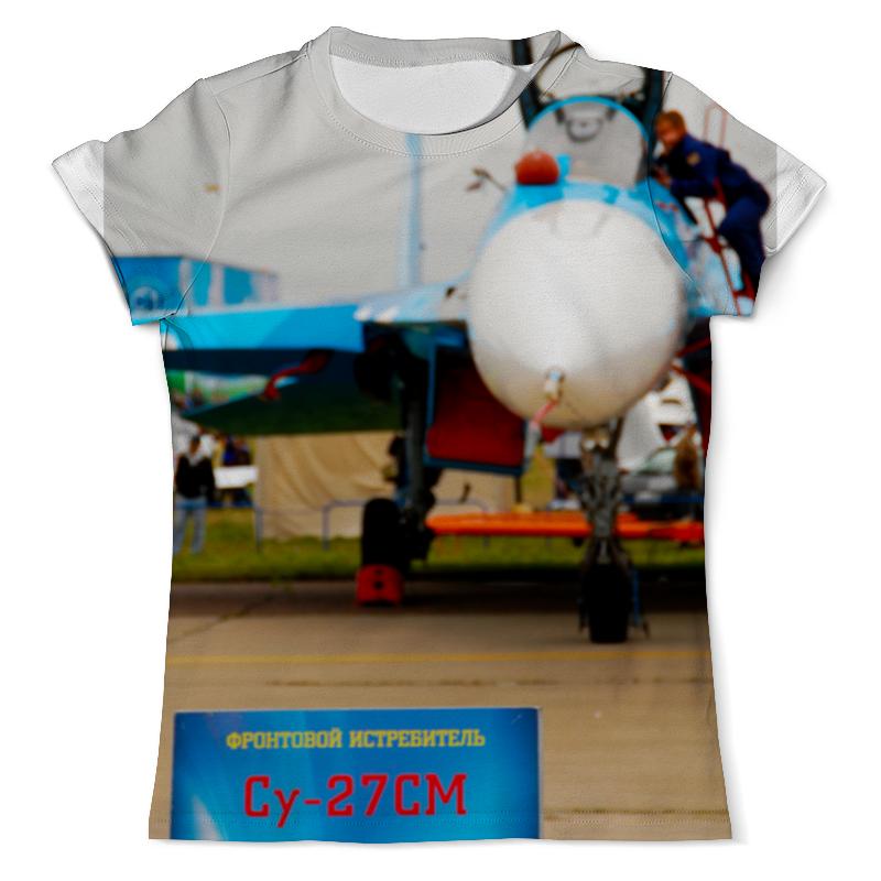 Футболка с полной запечаткой (мужская) Printio Истребитель су-27см салатник литл флауэрс 27см 791969