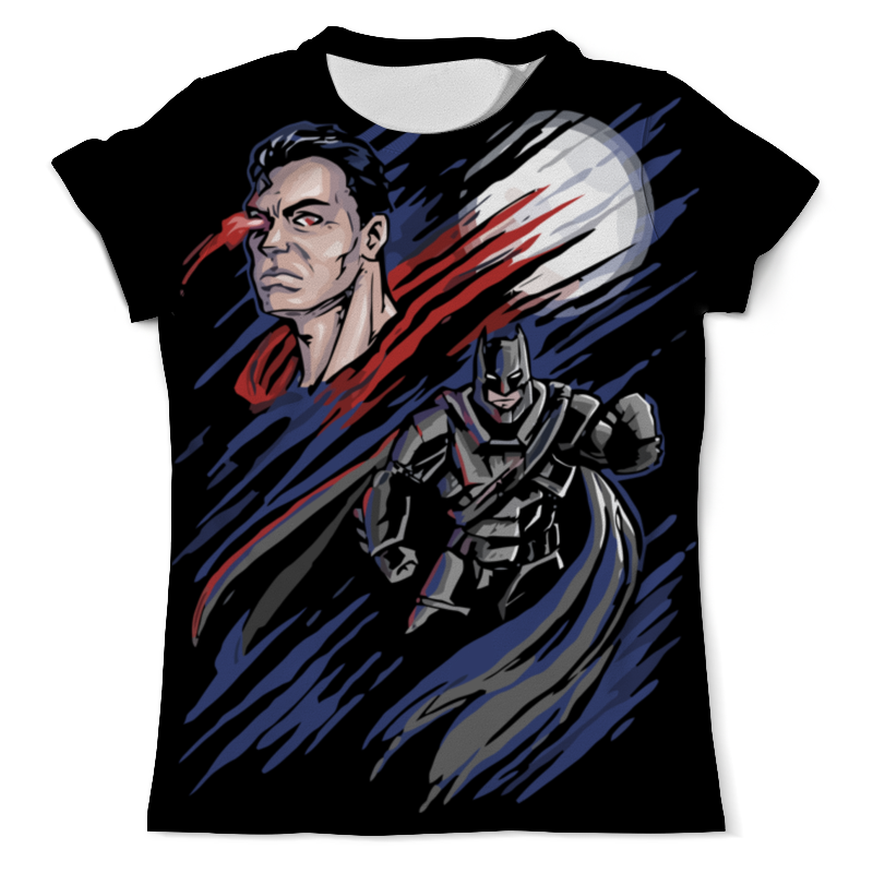 Футболка с полной запечаткой (мужская) Printio Бэтмен и супермен запуск брат супермен бэтмен t рубашки с бэтмен любителей любителей футболку любовь 186
