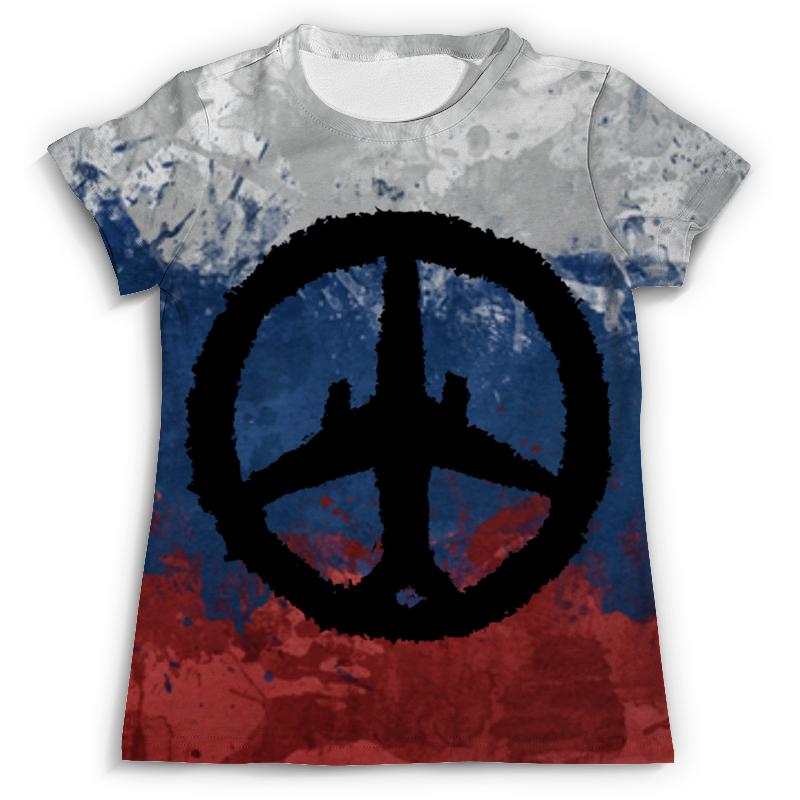 Футболка с полной запечаткой (мужская) Printio Самолет, солидарность, россия (а321) флаг пограничных войск россии великий новгород