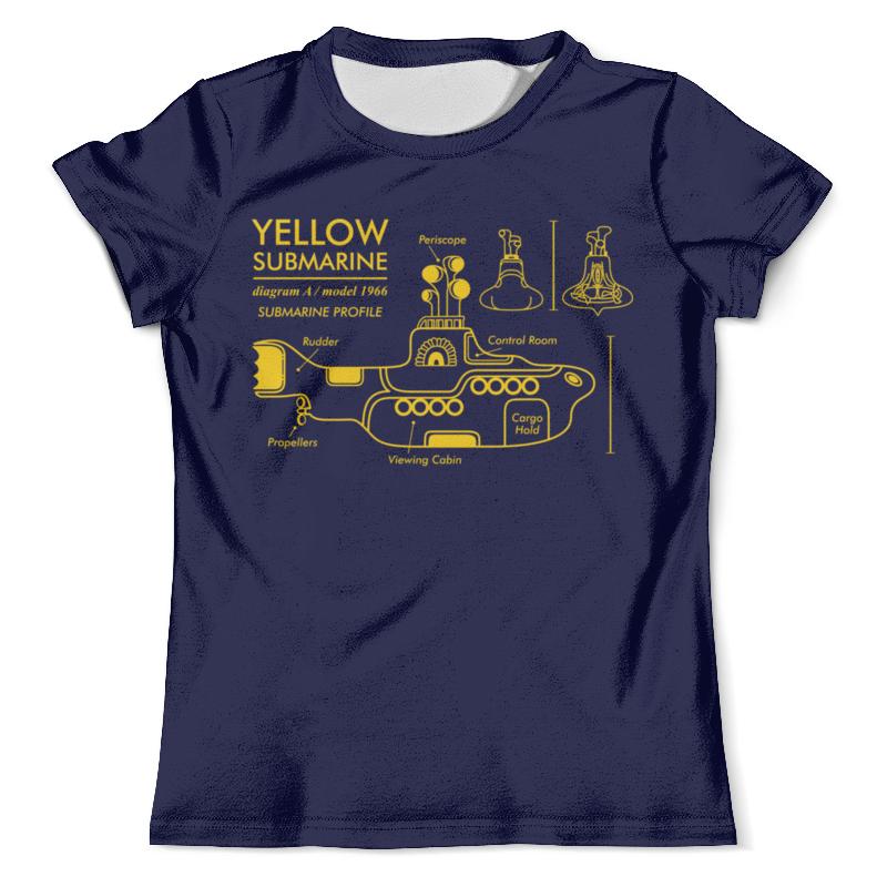 все цены на Футболка с полной запечаткой (мужская) Printio Yellow submarine