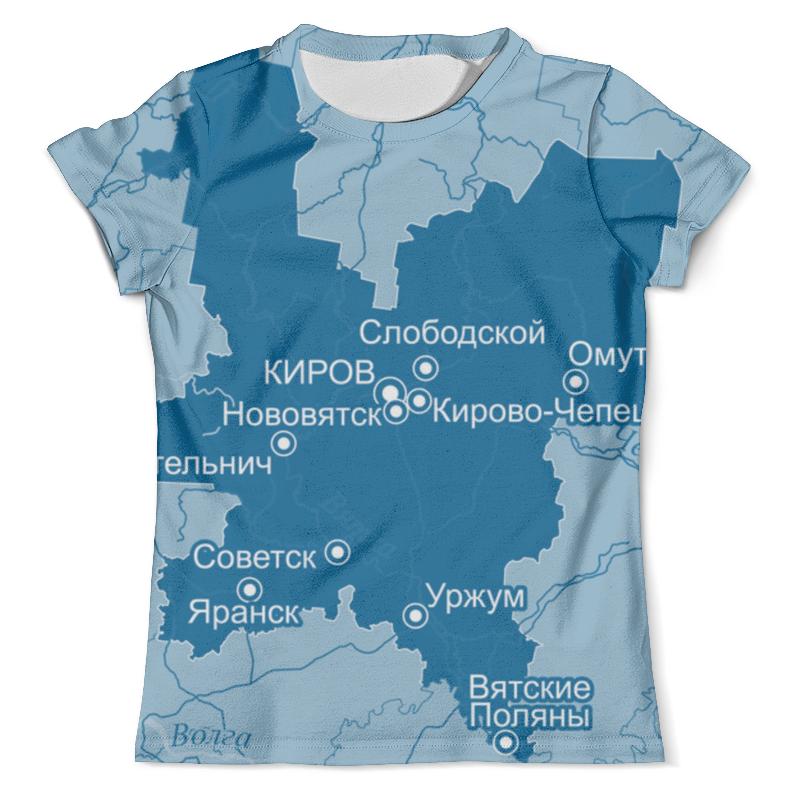 Футболка с полной запечаткой (мужская) Printio Кировская область. киров