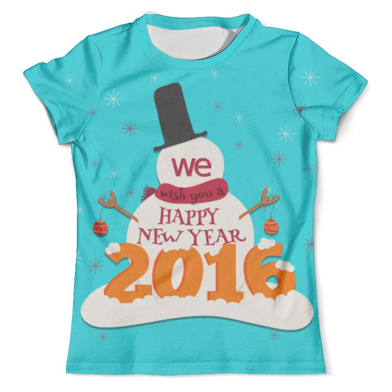 Футболка с полной запечаткой (мужская) Printio Happy new year new original ki0209 warranty for two year