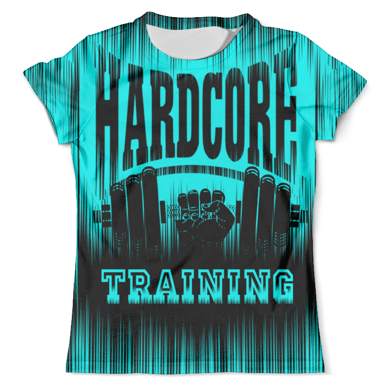 Футболка с полной запечаткой (мужская) Printio Hardcore training!!! yo zuri hardcore surface crank