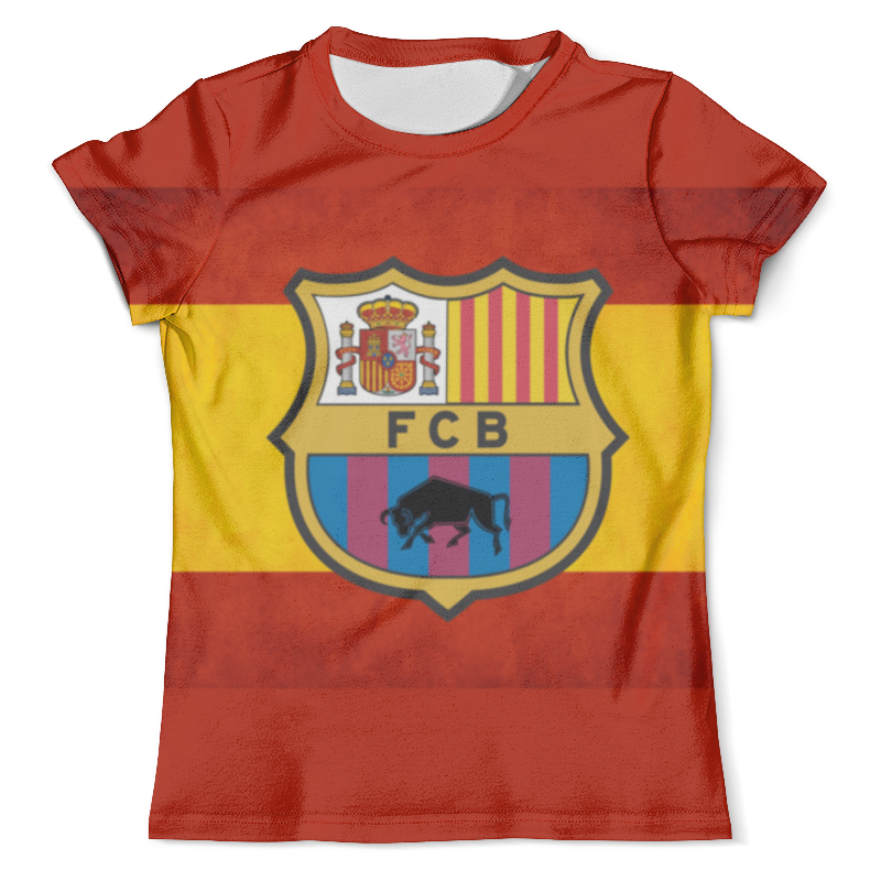 Футболка с полной запечаткой (мужская) Printio Fc barcelona атрибутика шапка вязаная fc barcelona арт 115102