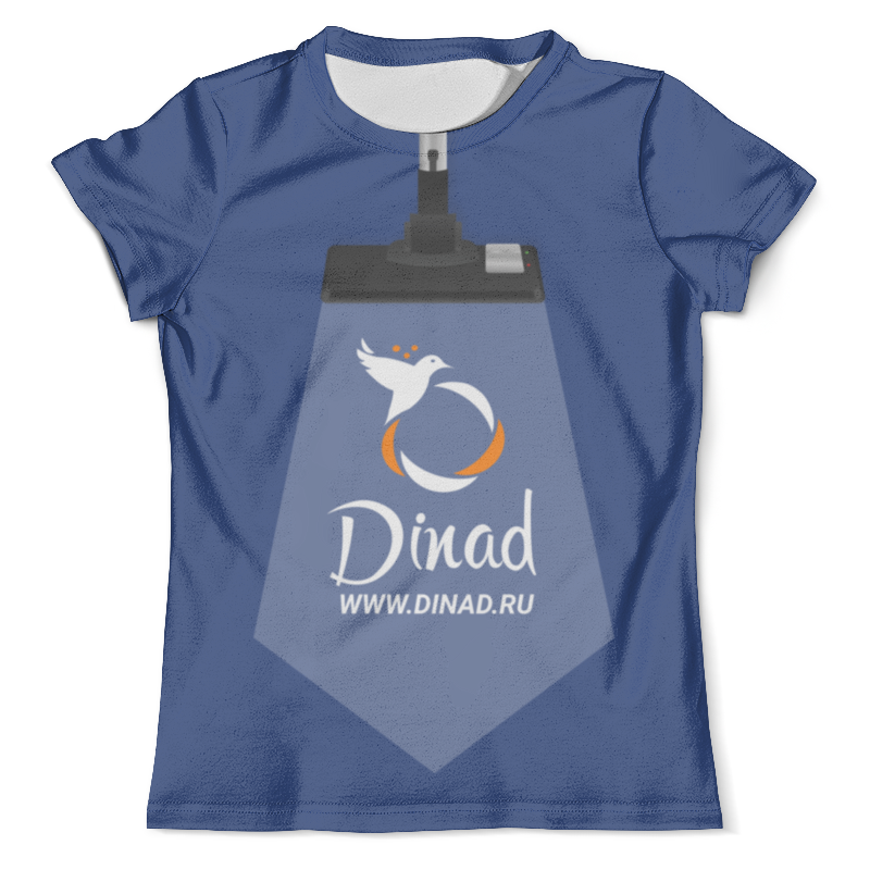 Футболка с полной запечаткой (мужская) Printio Dinad.ru синяя футболка мужская отелло темно синяя