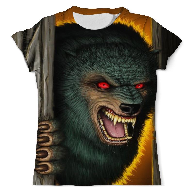 Футболка с полной запечаткой (мужская) Printio Волк вампир (1) футболка с полной запечаткой мужская printio морской волк