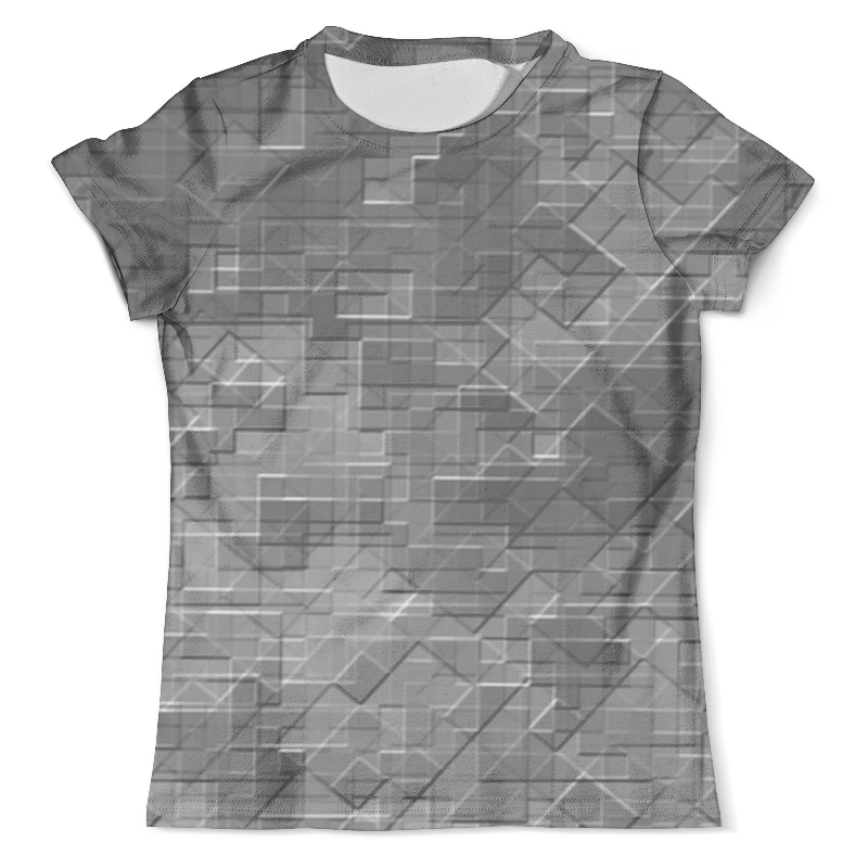 Футболка с полной запечаткой (мужская) Printio Пиксель-арт. черно-белый паттерн волченко ю с пиксель арт