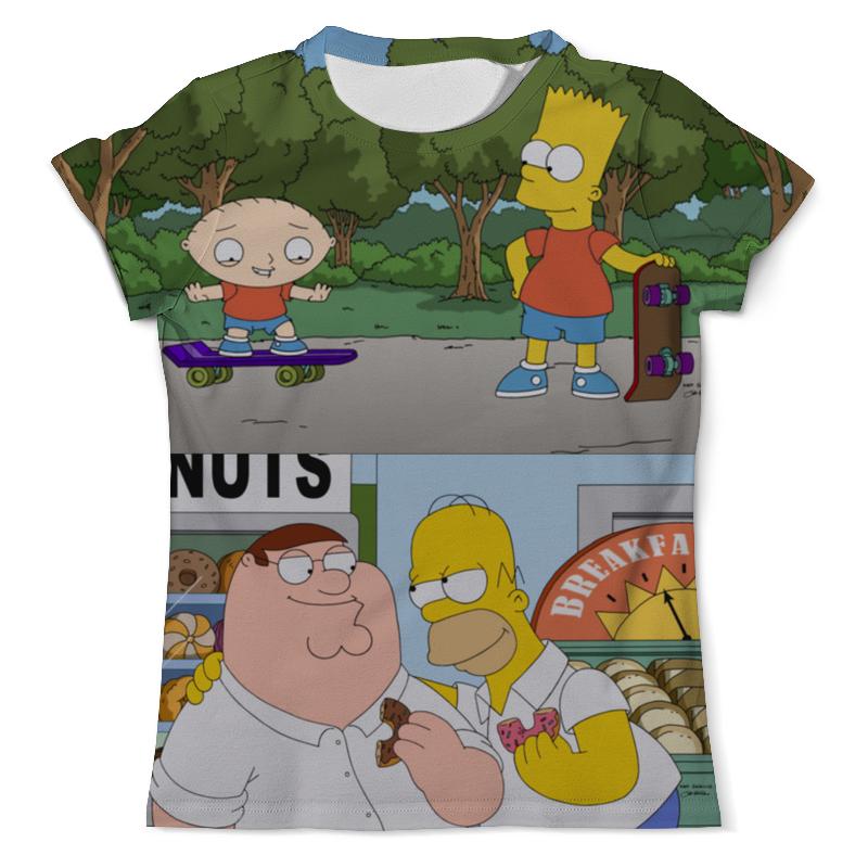 Футболка с полной запечаткой (мужская) Printio Homer peter bart stewie футболка print bar homer in pieces