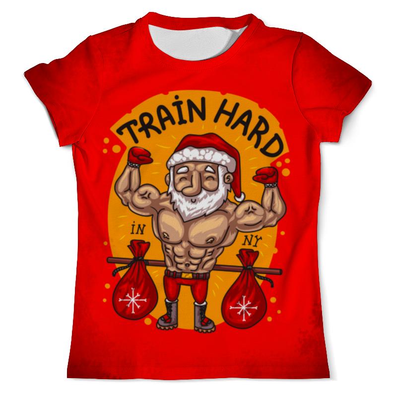 Футболка с полной запечаткой (мужская) Printio Train hard in new year set wonders in the new year s plaid