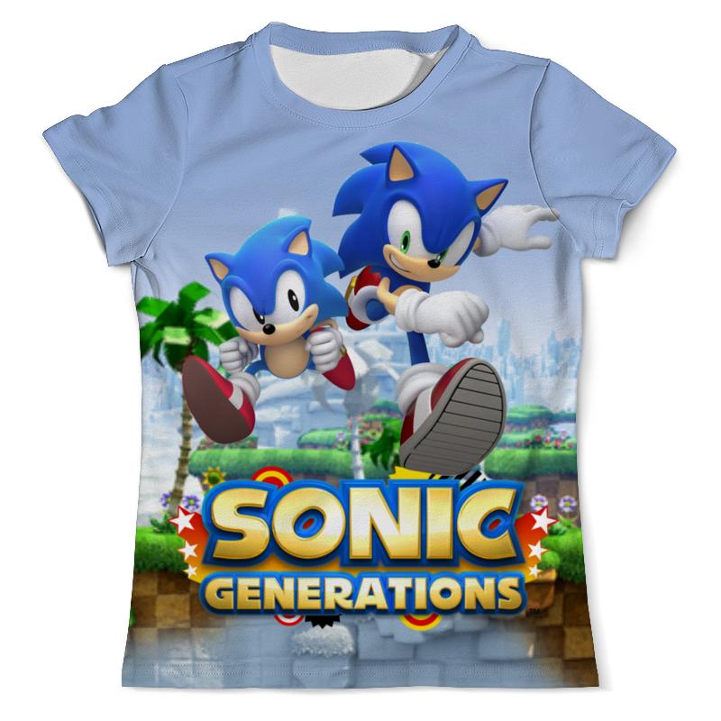 Футболка с полной запечаткой (мужская) Printio Sonic generations green hill zone цена