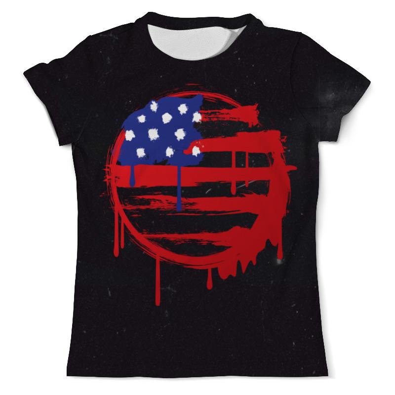 цена на Футболка с полной запечаткой (мужская) Printio American flag (американский флаг)