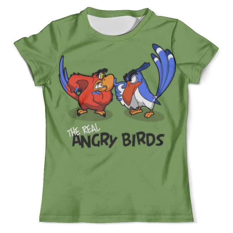 Футболка с полной запечаткой (мужская) Printio The real angry birds (1) непоседа кпб 1 5 бязь angry birds стелла page 1