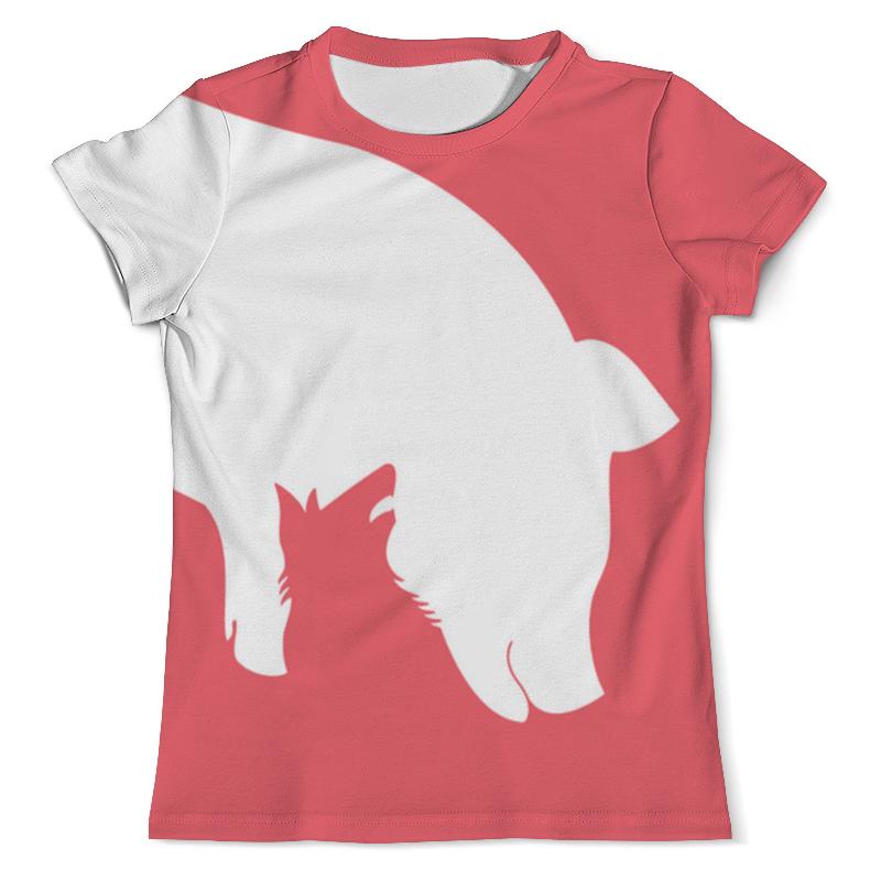 Футболка с полной запечаткой (мужская) Printio Волк и добыча футболка с полной запечаткой мужская printio красная шапочка и серый волк 3