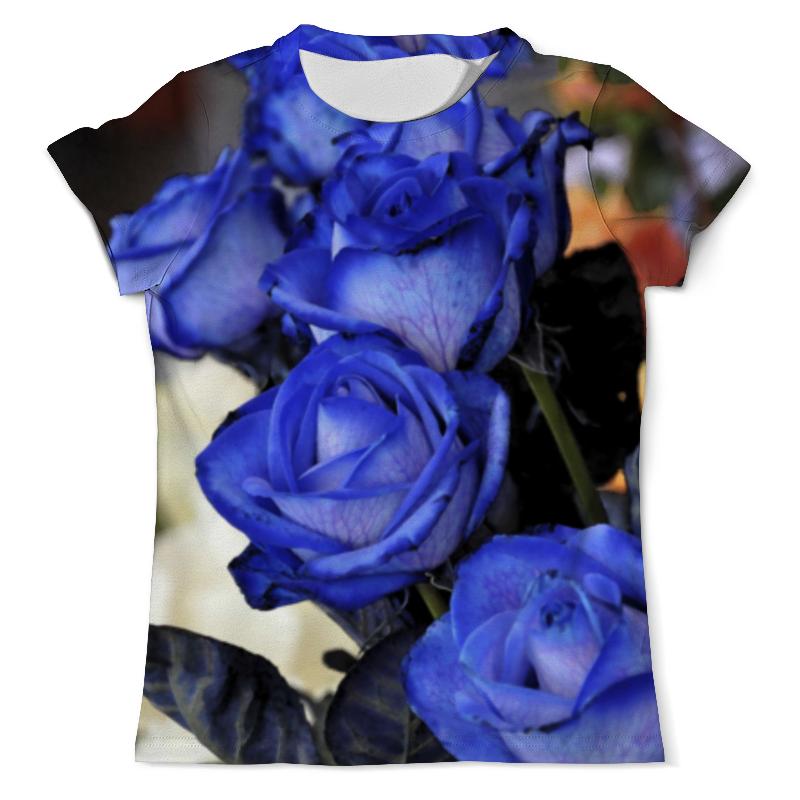 Футболка с полной запечаткой (мужская) Printio Синие розы фотошторы стильный дом синие розы