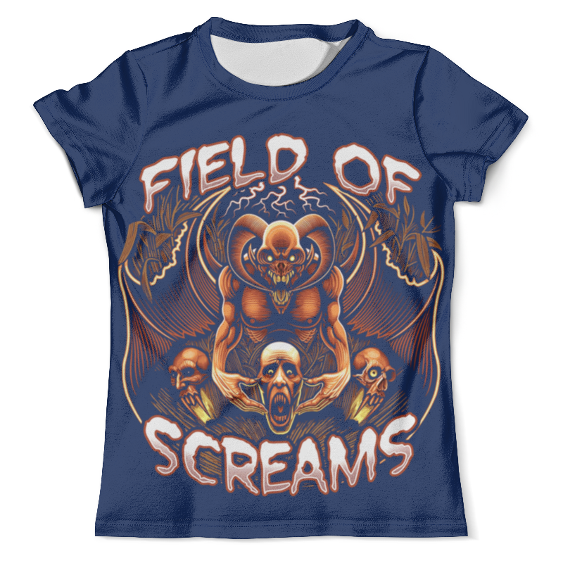 Футболка с полной запечаткой (мужская) Printio Field of screams training of field functionaries