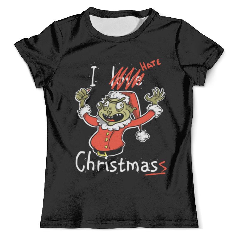 Футболка с полной запечаткой (мужская) Printio I hate christmas футболка с полной запечаткой для девочек printio i hate school new