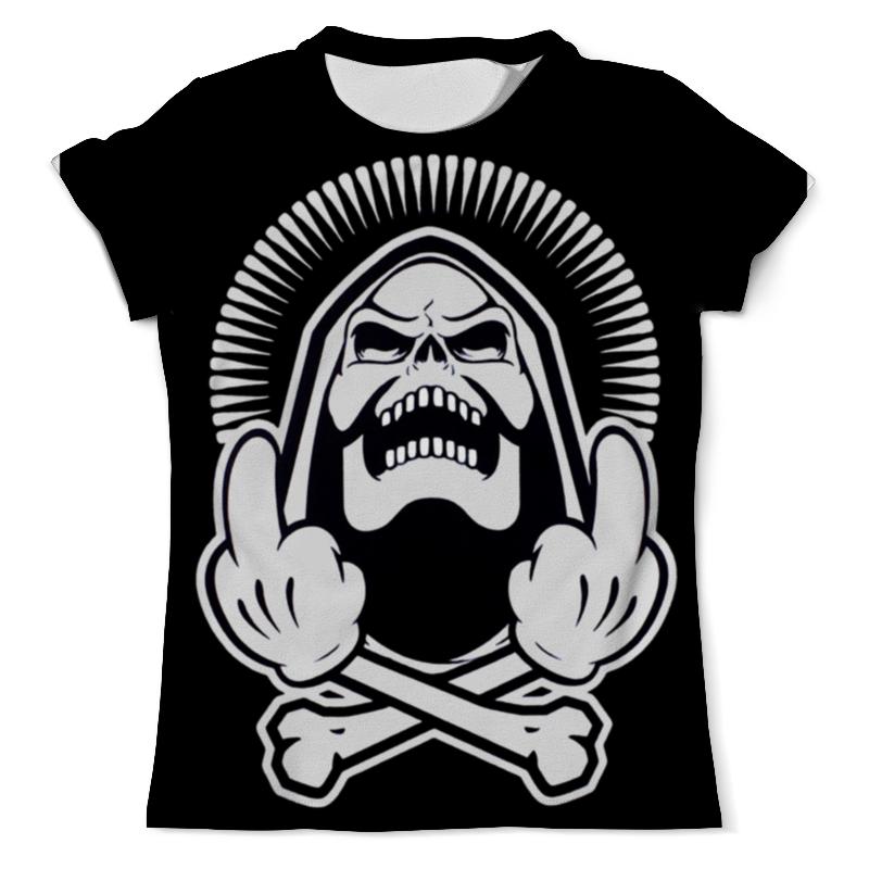 Футболка с полной запечаткой (мужская) Printio Skeleton f*ck you футболка с полной запечаткой мужская printio thank you