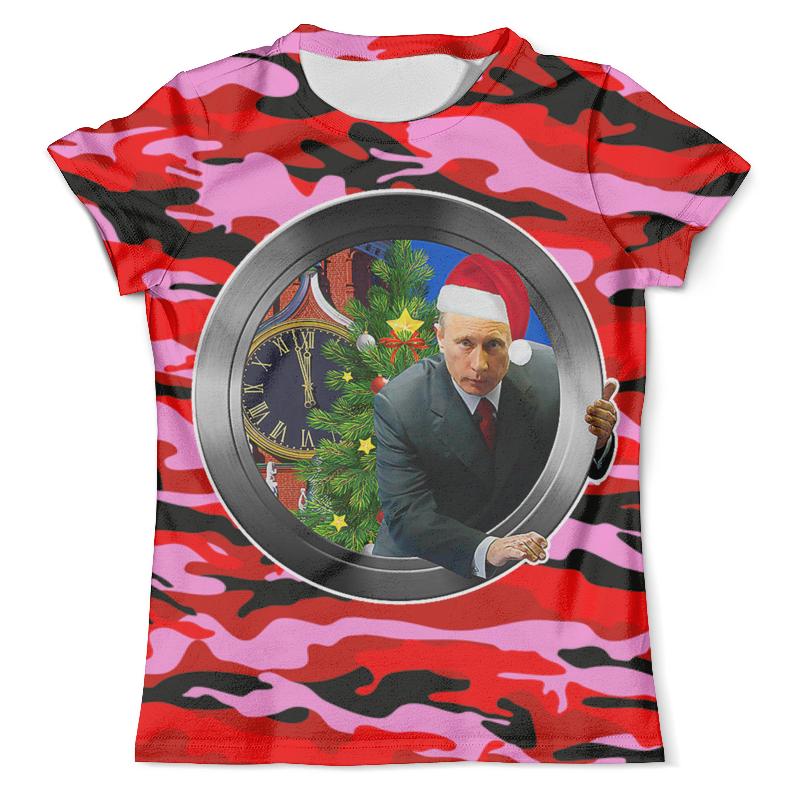 Футболка с полной запечаткой (мужская) Printio С новым годом! (путин) футболка с полной запечаткой мужская printio путин в в
