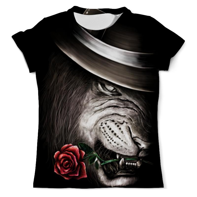 Футболка с полной запечаткой (мужская) Printio Лев и роза футболка с полной запечаткой мужская printio распускающаяся роза