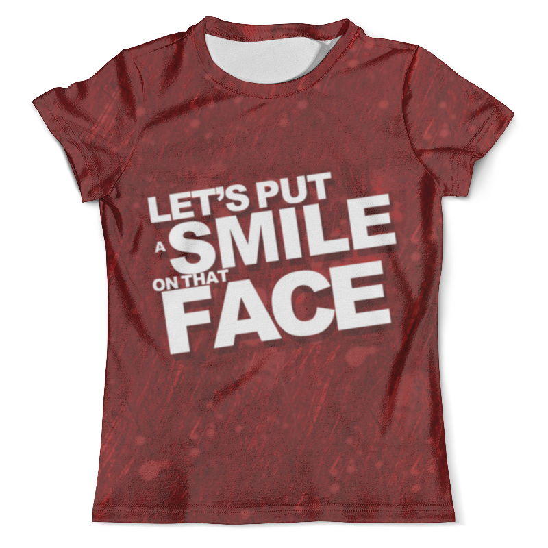 Футболка с полной запечаткой (мужская) Printio Smile joker smile line коляска трансформер oscar pcos 01 smile line бежевый зеленый принт