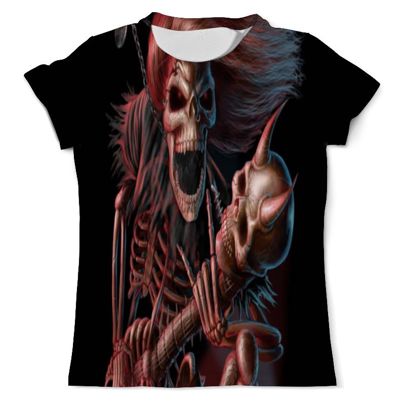 Футболка с полной запечаткой (мужская) Printio Скелет рокер футболка с полной запечаткой мужская printio рыба скелет 2