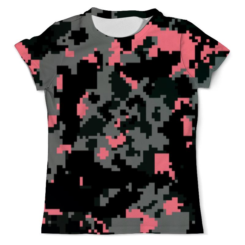 Printio Розовые пиксели футболка с полной запечаткой мужская printio розовые хризантемы
