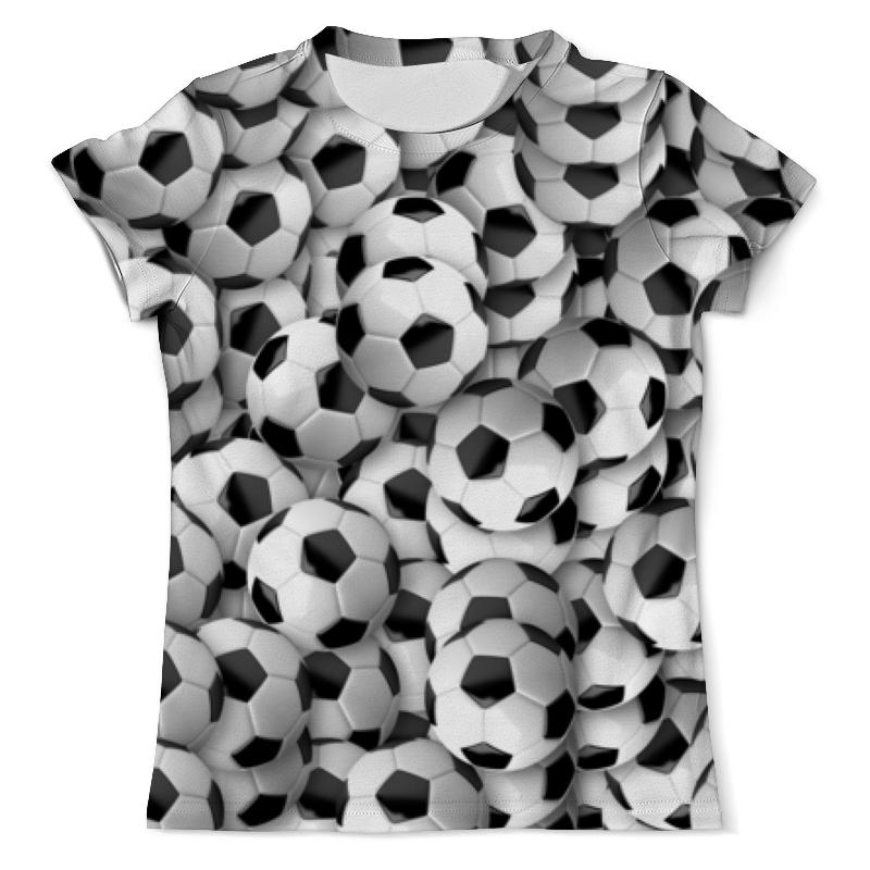 Футболка с полной запечаткой (мужская) Printio Футбольный мяч мужская одежда для спорта
