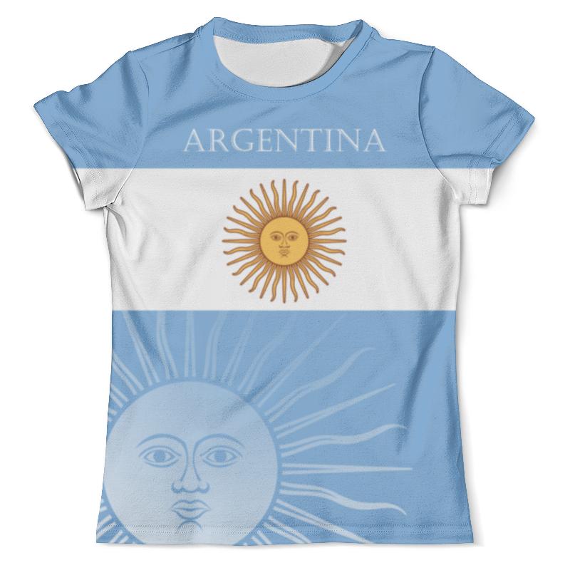 Футболка с полной запечаткой (мужская) Printio Сборная аргентины цена и фото