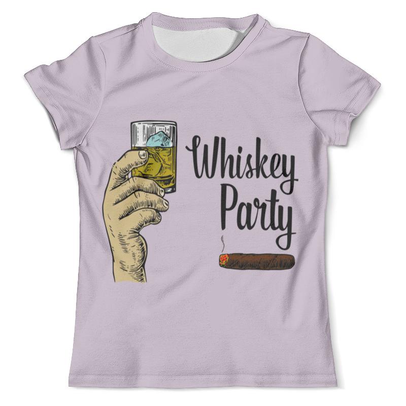 Футболка с полной запечаткой (мужская) Printio Whiskey party leaving whiskey bend
