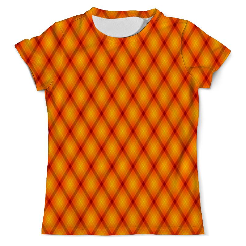 Футболка с полной запечаткой (мужская) Printio Клетка оранжевая футболка оранжевая