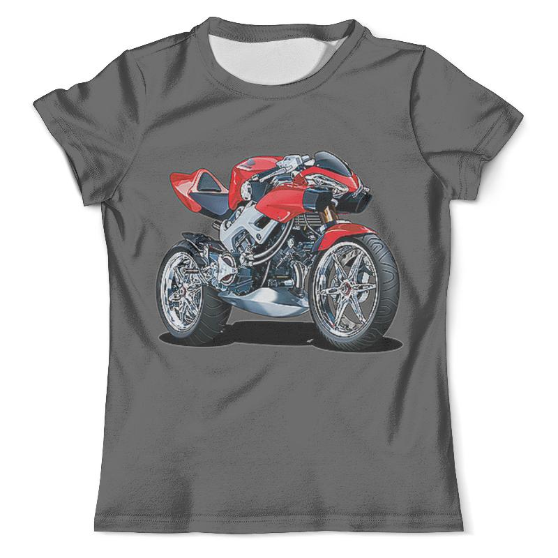 Футболка с полной запечаткой (мужская) Printio Honda moto