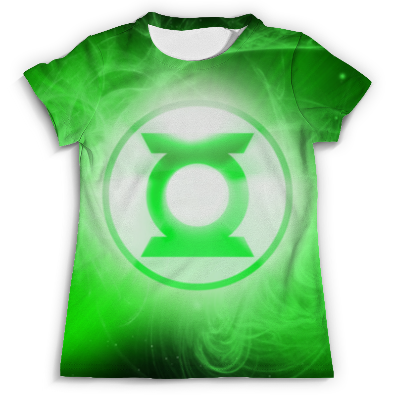 Футболка с полной запечаткой Printio Зелёный фонарь (green lantern) футболка с полной запечаткой printio green lantern the duck 2