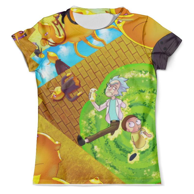 Футболка с полной запечаткой (мужская) Printio Рик и морти футболка с полной запечаткой мужская printio и по