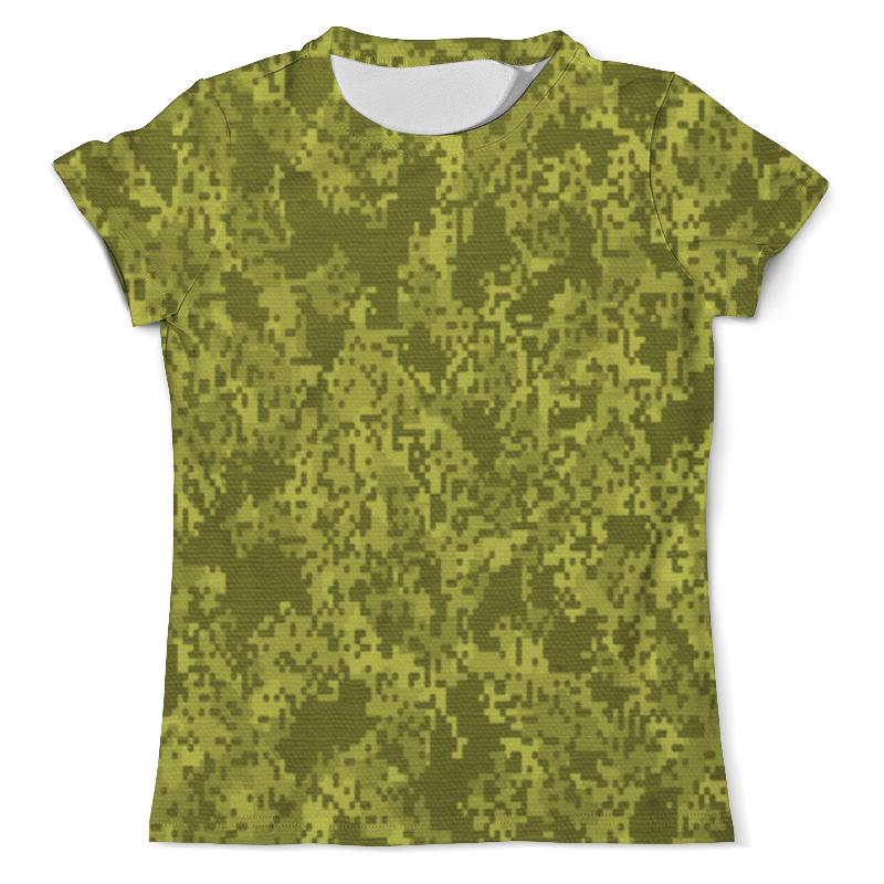 Футболка с полной запечаткой (мужская) Printio Зелёный пиксельный камуфляж футболка с полной запечаткой мужская printio пиксельный разрыв я в порядке