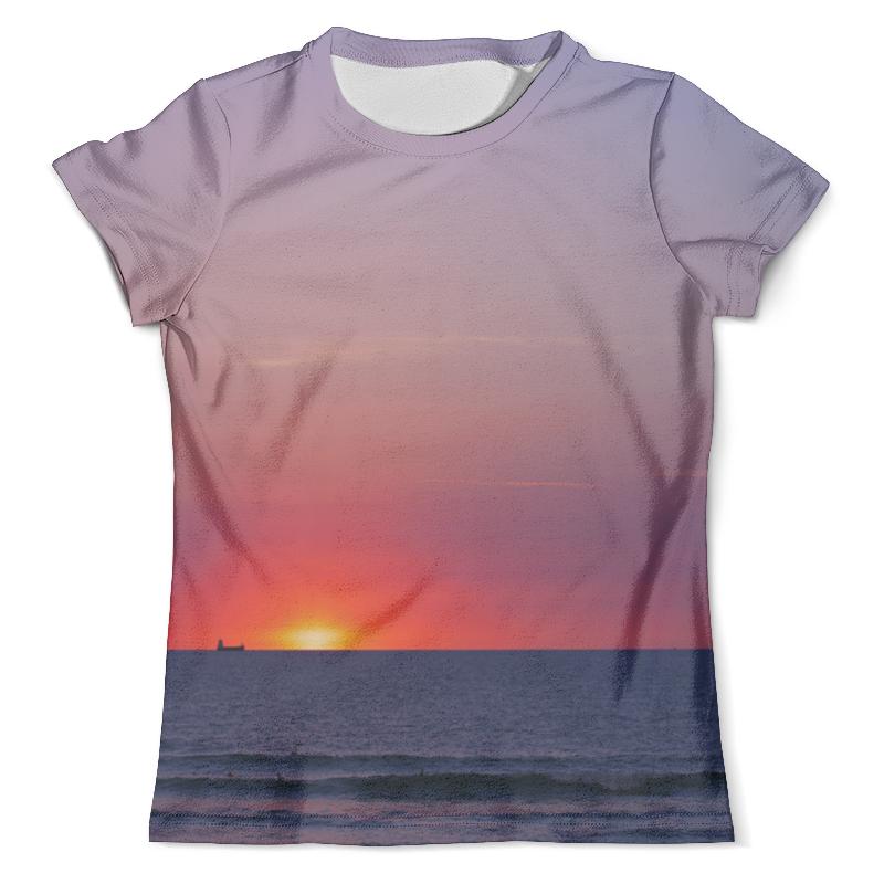 Футболка с полной запечаткой (мужская) Printio Закат у моря футболка с полной запечаткой мужская printio х у й ё б