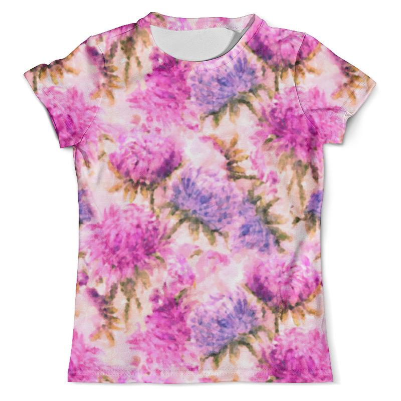 Футболка с полной запечаткой (мужская) Printio Акварельные яркие розовые цветы невидимка для волос funny bunny розовые цветы 2 шт