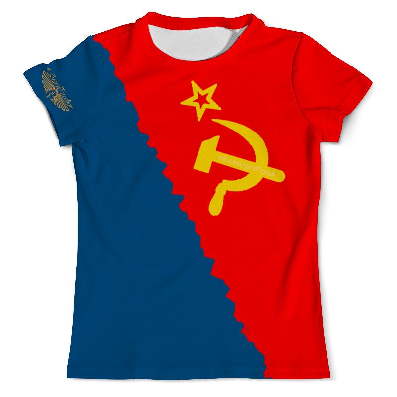 Футболка с полной запечаткой (мужская) Printio Флаг россии (рсфср) футболка с полной запечаткой для мальчиков printio флаг и герб россии