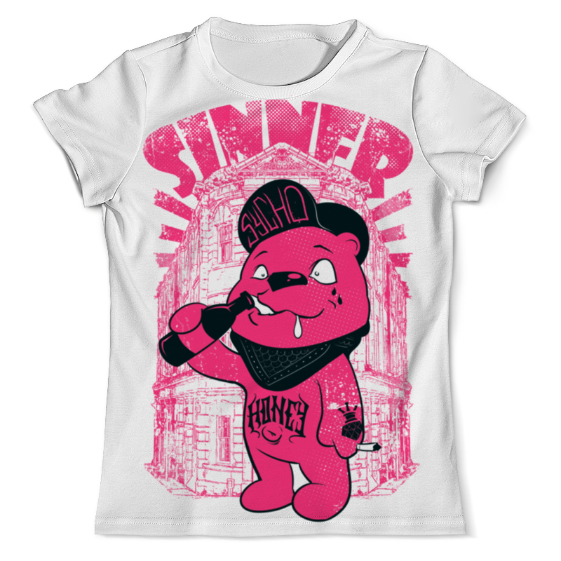 Printio Медведь бандит футболка с полной запечаткой мужская printio battlefield v