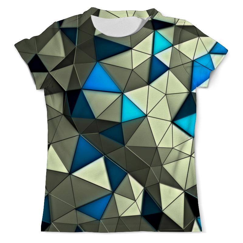 Футболка с полной запечаткой (мужская) Printio Стекло серо-голубое футболка с полной запечаткой мужская printio стекло михаил ларионов