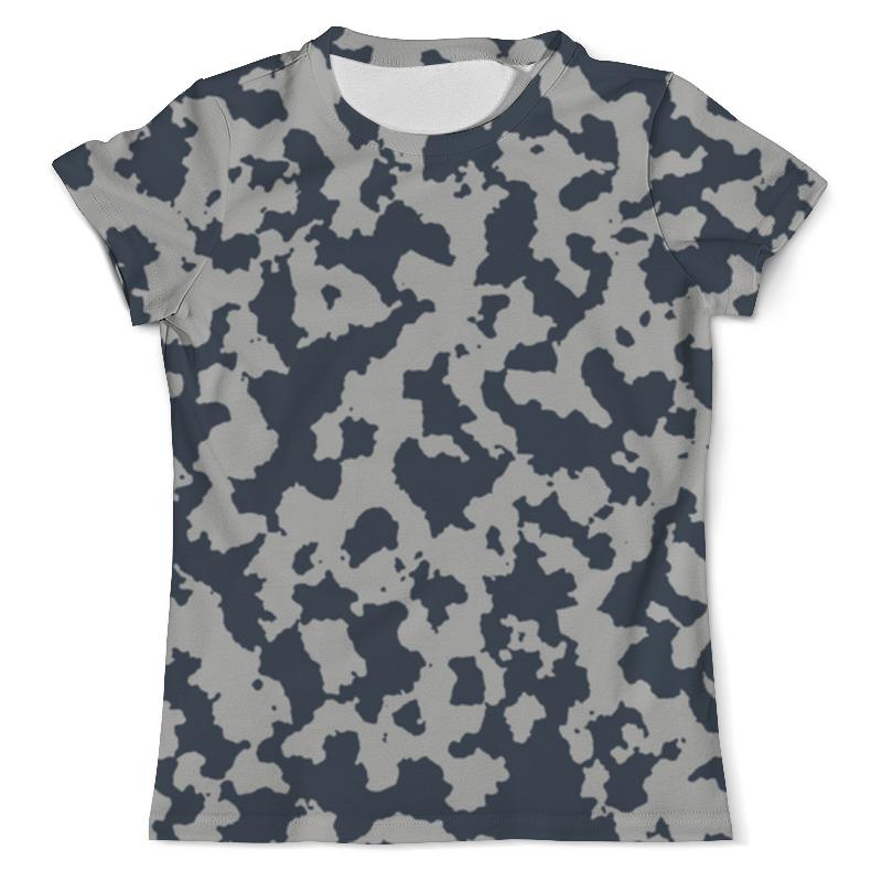 Футболка с полной запечаткой (мужская) Printio Сине-серый камуфляж футболка с полной запечаткой мужская printio яркий камуфляж