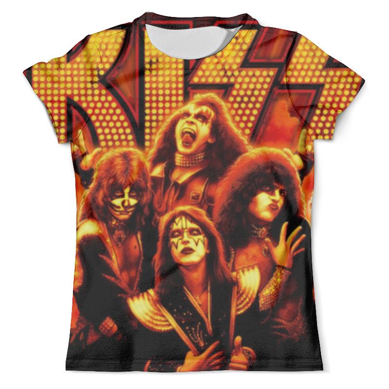 Футболка с полной запечаткой (мужская) Printio Kiss (кисс) симфоническое рок шоу rockestralive