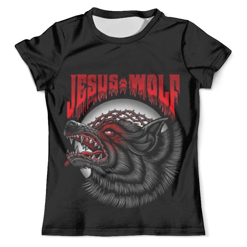 Футболка с полной запечаткой (мужская) Printio Jesus wolf цена