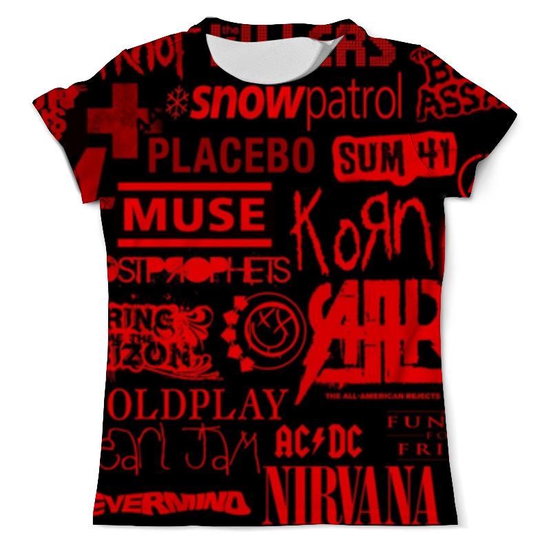 Футболка с полной запечаткой (мужская) Printio Rock band (рок группы) футболка с полной запечаткой мужская printio мерч группы devil s secrets
